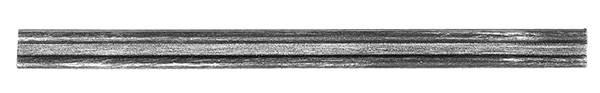Bundmaterial   Maße: 18x6x4 mm   Länge: 2000 mm   Stahl S235JR, roh