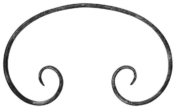 C-Schnecke | Maße: 130x220 mm | Material: 12x5 mm | Stahl S235JR, roh