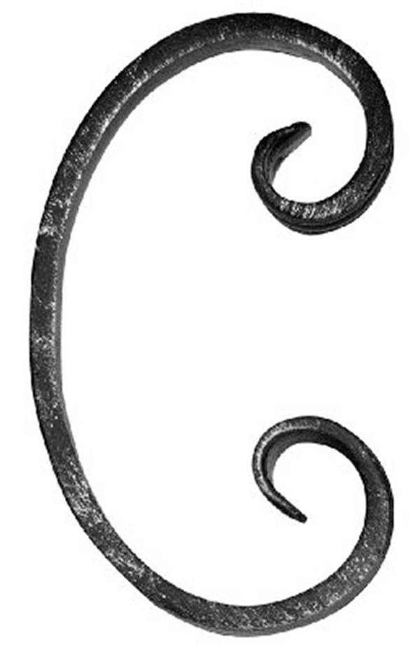 C-Schnecke | Maße: 70x120 mm | Material: 12x5 mm | Stahl S235JR, roh