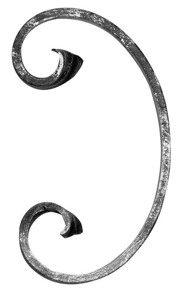 C-Schnecke | Maße: 85x150 mm | Material: 12x5 mm | Stahl S235JR, roh