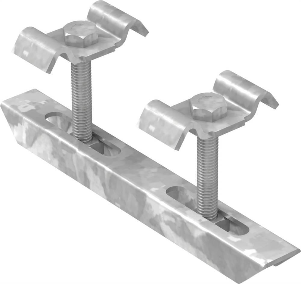 Doppelklemme für Rosthöhe 30 mm | MW 30/20 mm | aus St37, feuerverzinkt