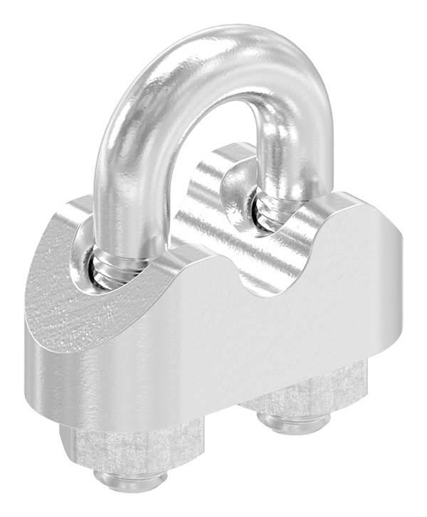 Drahtseilklemme | für Seil Ø: 2 mm - 8 mm | Gewinde: M3 - M6 | V4A