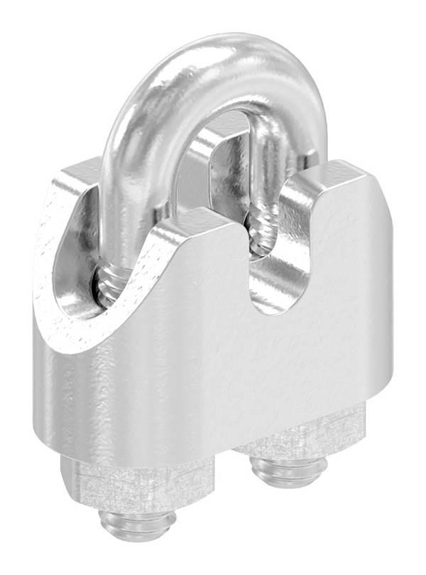 Drahtseilklemme | für Seil Ø: 2 mm | Gewinde: M3 | V4A