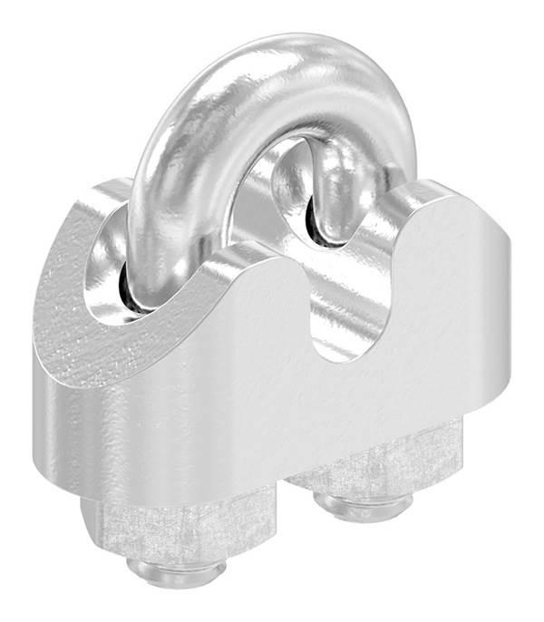 Drahtseilklemme | für Seil Ø: 3 mm | Gewinde: M4 | V4A
