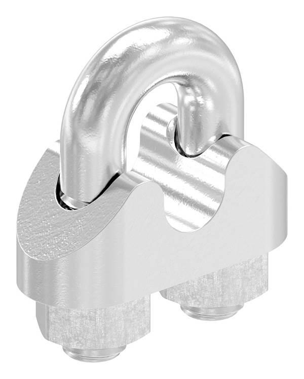 Drahtseilklemme | für Seil Ø: 5 mm | Gewinde: M5 | V4A