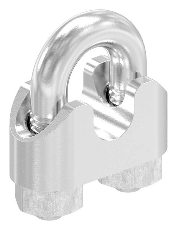 Drahtseilklemme | für Seil Ø: 8 mm | Gewinde: M6 | V4A