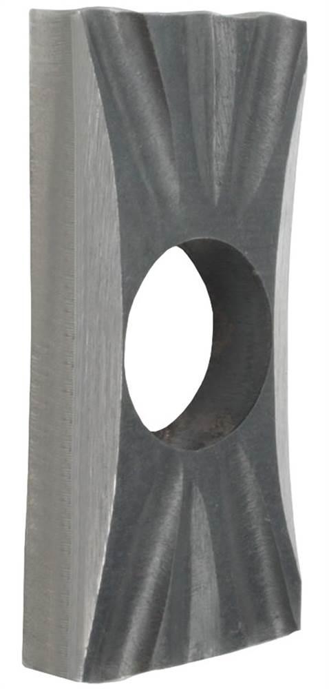 Drückerrosette   Maße: 35x76x10 mm   Stahl S235JR, roh