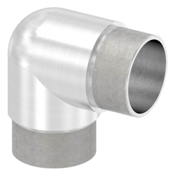 Eckbogen 90° eng, für Rundrohr Ø 42,4x2,0 mm V2A