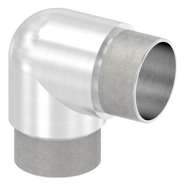 Eckbogen 90° eng, für Rundrohr Ø 42,4x2,6 mm V2A