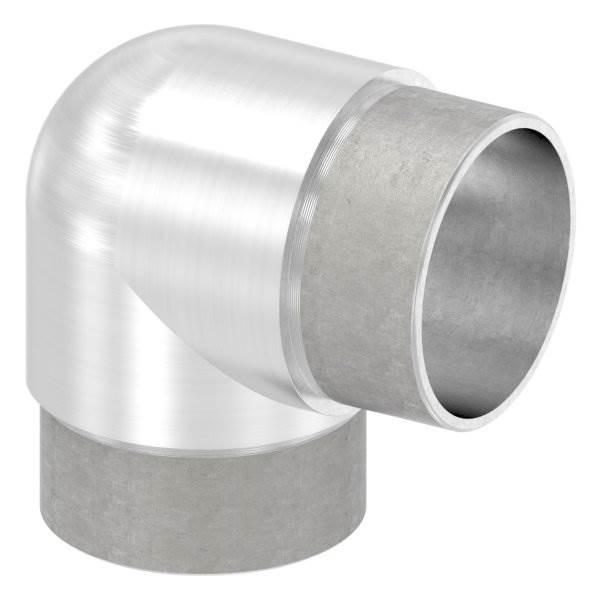 Eckbogen 90° eng, für Rundrohr Ø 48,3x2,0 mm V2A