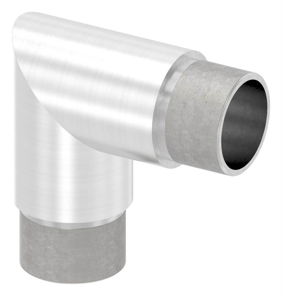 Eckbogen 90°, für Rundrohr Ø 33,7x2,0 mm V2A