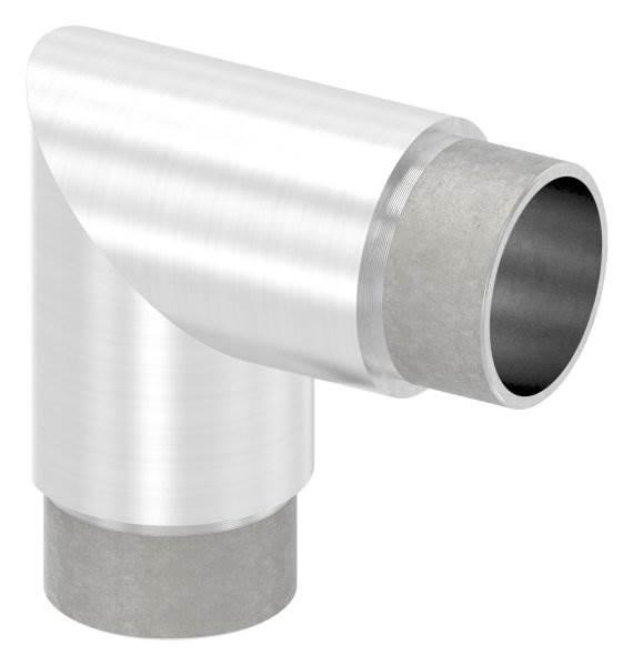 Eckbogen 90° für Rundrohr Ø 42,4x2,6 mm V2A
