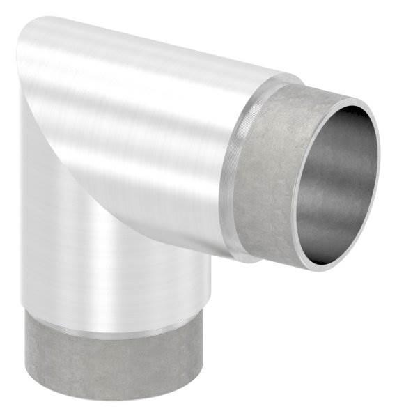 Eckbogen 90°, für Rundrohr Ø 48,3x2,0 mm V2A