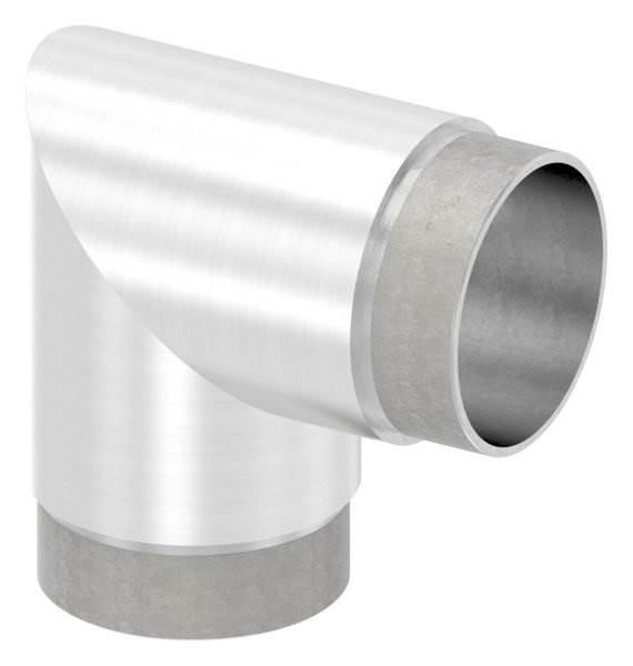 Eckbogen 90°, für Rundrohr Ø 60,3x2,0 mm V2A