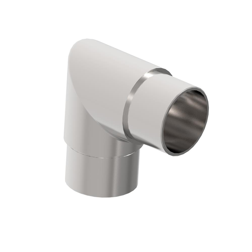 Eckbogen 90° V2A für Rundrohr Ø 42,4x2,0 mm