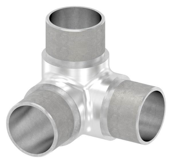 Ecke/Abgang 90° für Rundrohr Ø 33,7x2,0 mm V2A