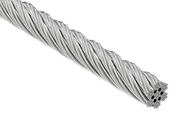 Edelstahlseil 7x7 | flexibel | Ø 6 mm | Preis pro Meter | V4A