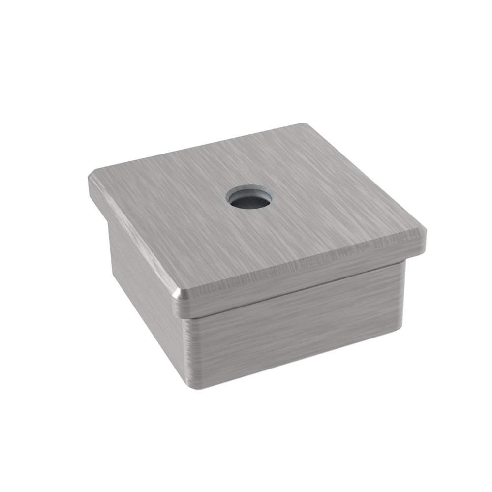 Einsteckkappe mit M8 zum Kleben für Rohr 40x40x2,0 mm V2A