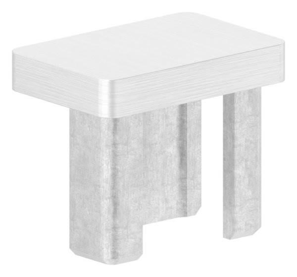 Einsteckkappe V4A zum Kleben für Rohr 30x20x2,0 mm