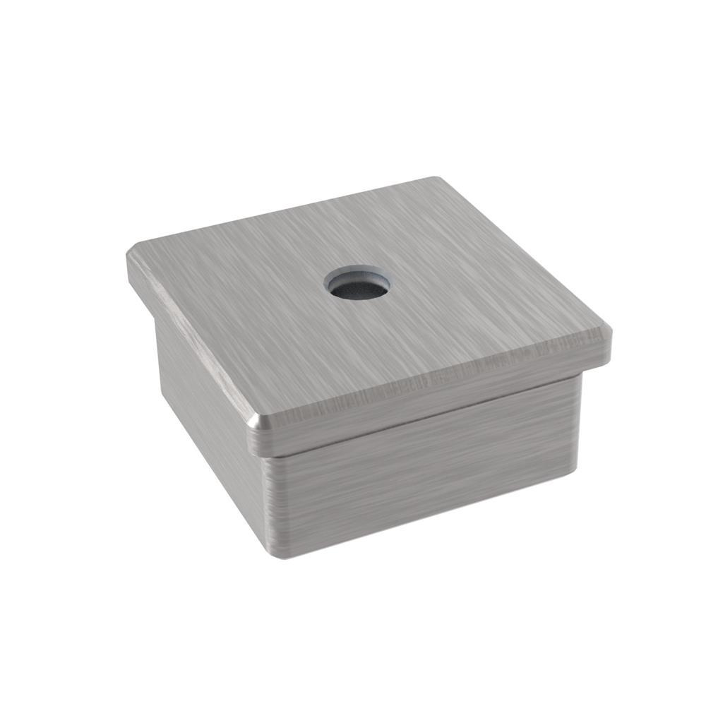 Einsteckkappe zum Kleben für Rohr 50x50x2,0 mm V2A