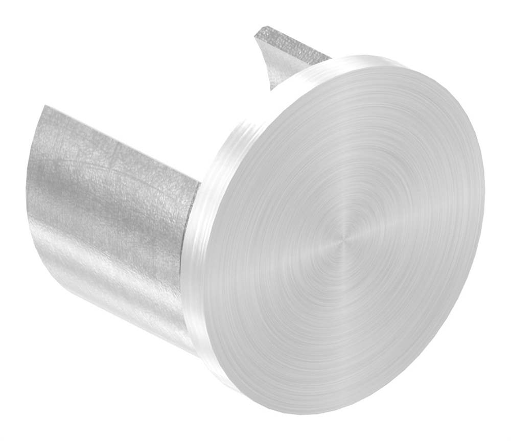 Endkappe | flache Ausführung | für Nutrohr Ø 48,3 mm | V4A
