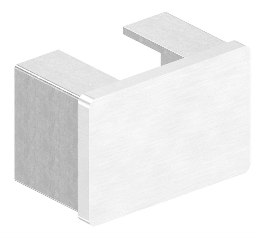 Endkappe | flache Ausführung | für Rechteck-Nutrohr: 60x40x1,5 mm | V2A