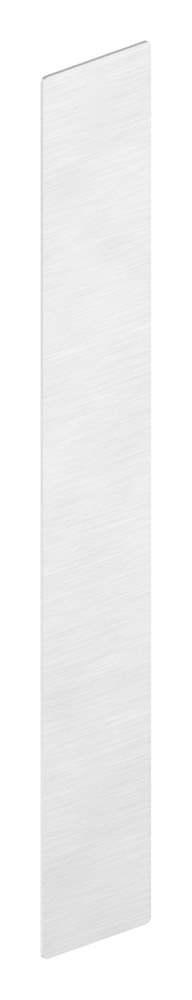 Endkappe | für Ganzglasgeländer | für Schräge bis 41° | Maße: 145x40,5x1,5 mm | Aluminium