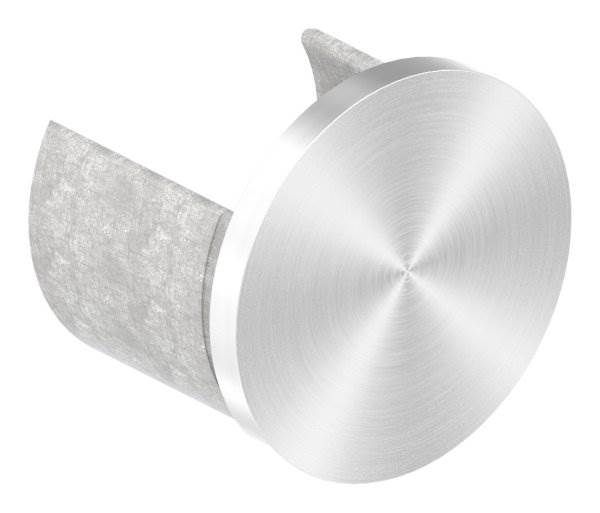 Endkappe | flache Ausführung | für Nutrohr Ø 42,4 mm | V2A
