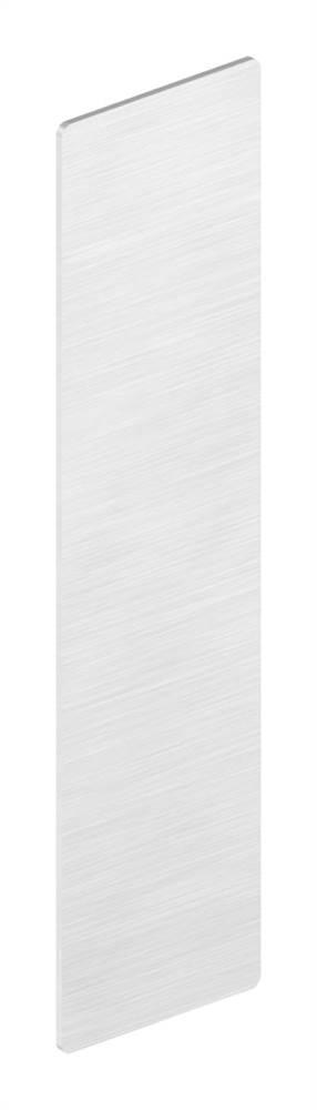 Endkappe | für Ganzglasgeländer | für Schräge bis 41° | Maße: 146x40,5x1,5 mm | Aluminium