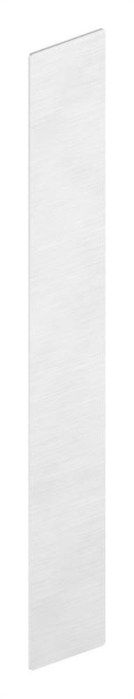 Endkappe | für Ganzglasgeländer | für Schräge bis 41° | Maße: 301x46,5x1,5 mm | Aluminium