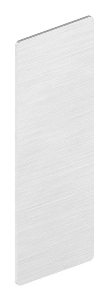 Endkappe | für Ganzglasgeländer | Maße: 109,5x40,5x1,5 mm | Aluminium