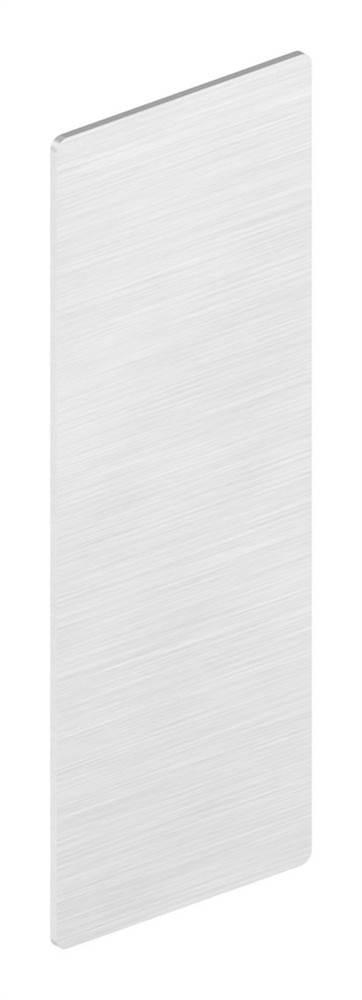 Endkappe | für Ganzglasgeländer | Maße: 124,5x46,5x1,5 mm | Aluminium