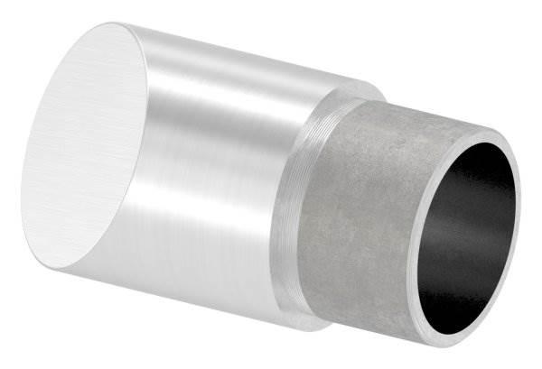 Endstück 45°, für Rundrohr Ø 33,7x2,0 mm V2A