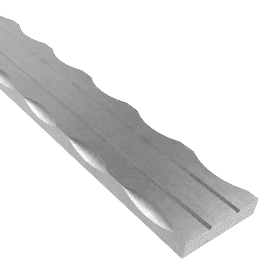 Flacheisen | 2x gerillt | Länge: 3000 mm | Material: 50x6 mm | Stahl (Roh) S235JR