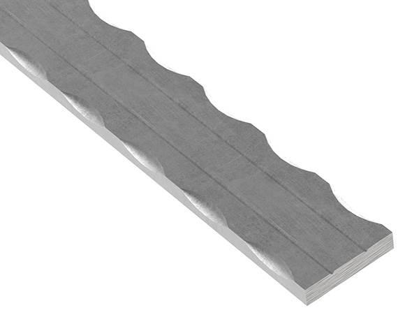 Flacheisen | 2x gerillt | Länge: 6000 mm | Material: 40x8 mm | Stahl (Roh) S235JR