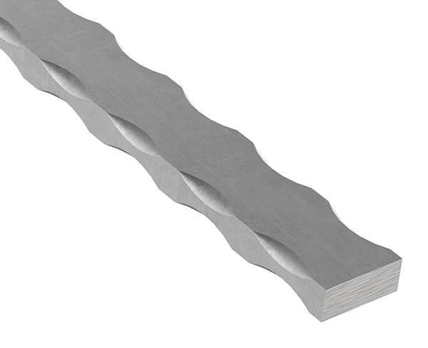 Flacheisen   4 Kanten gehämmert   Material: 30x12 mm   Stahl (Roh) S235JR