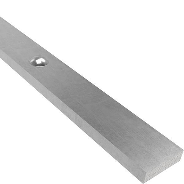 Flacheisen mit Nieten   Material: 30x6 mm   Länge: 3000 mm   Stahl (Roh) S235JR