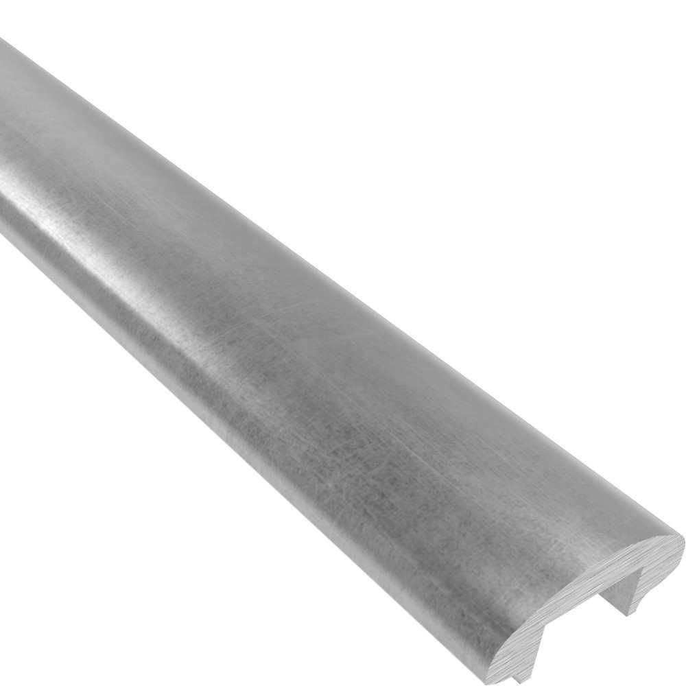 Handlauf | Maße: 50x22,5 mm | Länge: 3000 mm | mit Nut | Stahl (Roh) S235JR