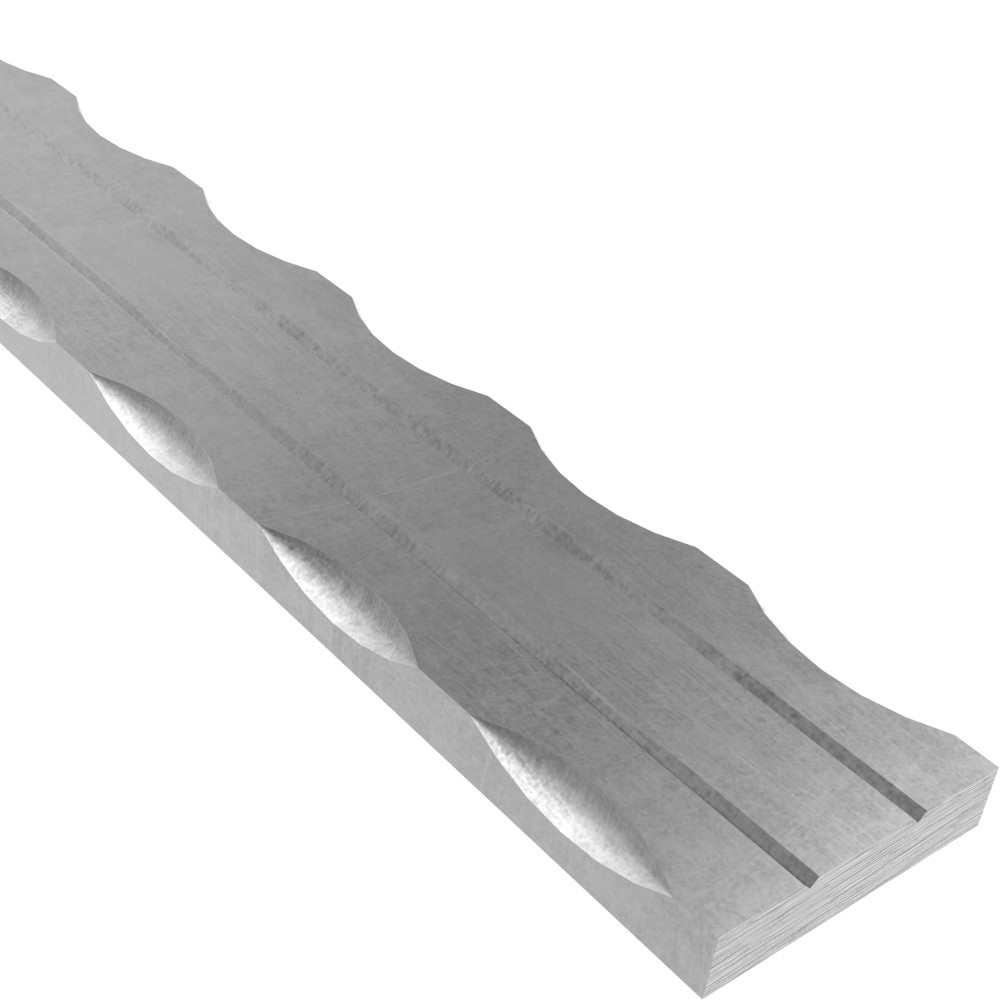 Flacheisen | 2x gerillt | Länge: 3000 mm | Material: 40x8 mm | Stahl (Roh) S235JR