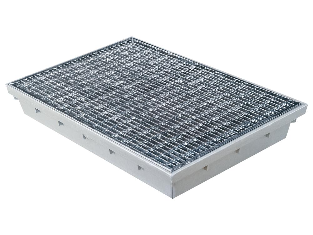 Fußabstreiferkasten   mit Gitterrost   Maße: 600x400   mit Ablauf