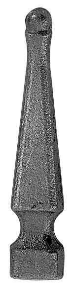 Zaunspitze | Höhe: 125 mm | Material: 25x25 mm | Stahl S235JR, roh
