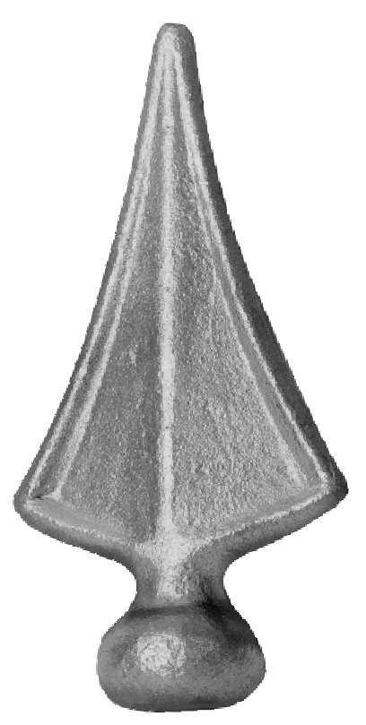 Zaunspitze | Höhe: 125 mm | Material: Ø 30 mm | Stahl S235JR, roh