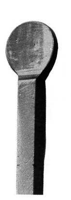 Zaunspitze | Höhe: 100 mm | Material: 12x12 mm | Stahl S235JR, roh