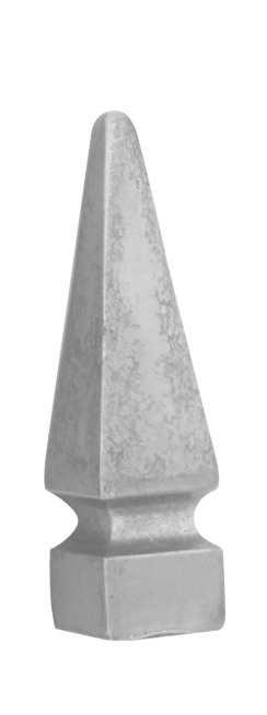 Zaunspitze | Höhe: 153 mm | Material: 30x30 mm | Stahl S235JR, roh