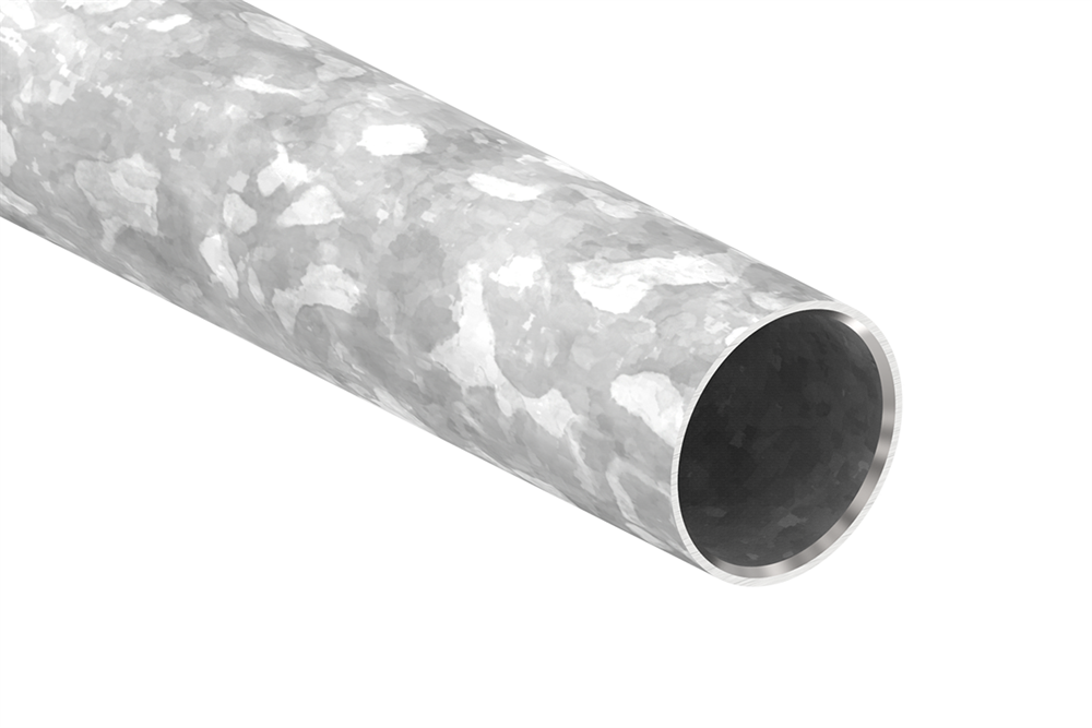 Geländerrohr | Ø 48,3x2,0 mm | Länge: 500 mm / 1000 mm / 1500 mm | Stahl S235JR, verzinkt