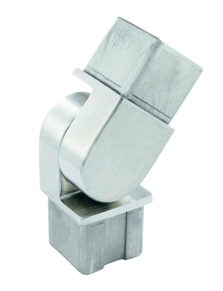 Gelenkstück zum Stecken und Kleben für 40x40x2,0 mm V2A