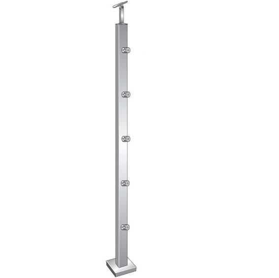 Geländerpfosten Treppenpfosten 1000mm für aufgesetzte Montage V2A