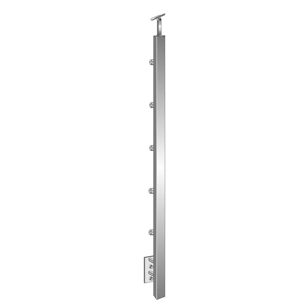 Geländerpfosten Treppenpfosten 1000mm für seitliche Montage V2A