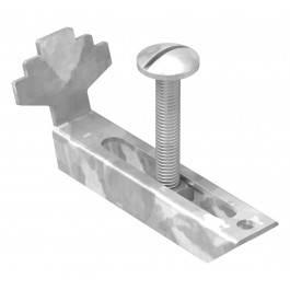 Gitterrostklemme V2A für Rosthöhe 30 mm | MW 30/10 mm | aus Edelstahl A2 1.4301, gebeizt