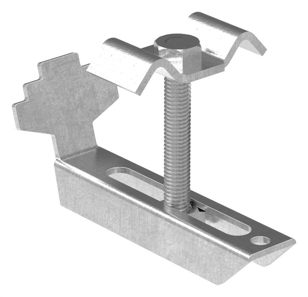 Gitterrostklemme V2A für Rosthöhe 30 mm | MW 30/30 mm | aus Edelstahl A2 1.4301, gebeizt